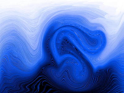 Digital Painting - Purity Of Breath by Abstract Angel Artist Stephen K