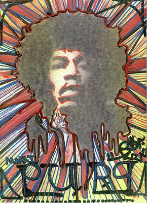 Jimmy Hendrix Painting - Purp by Robert Wolverton Jr