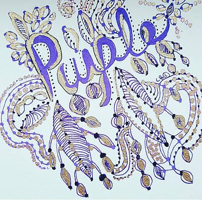 Drawing - Purple 1 by Carole Brecht