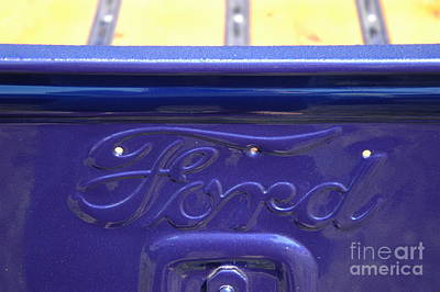 Purple V8 Photograph - Purple 1936 Ford Truck With V8 by Kathy Carlson