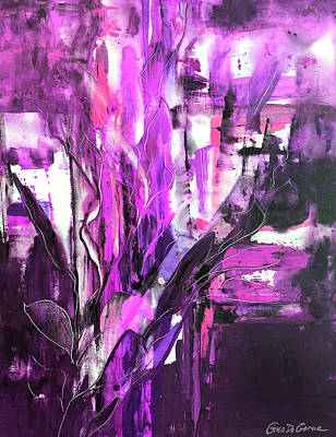 Painting - Purple Abstract 633 by Gina De Gorna