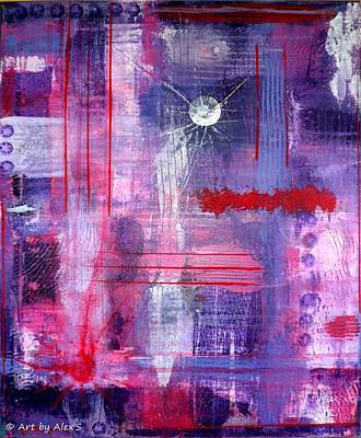 Painting - Purple Abstract by Alexandra Schumann