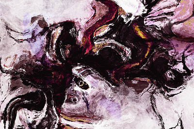 Inspire Painting - Purple Abstract Painting / Surrealist Art by Ayse and Deniz