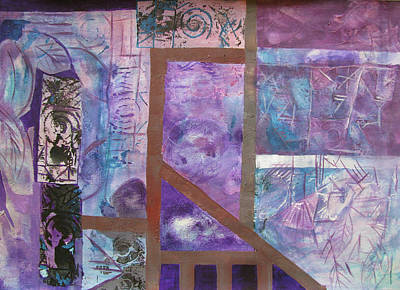 Mixed Media - Purple Abstract by Riana Van Staden
