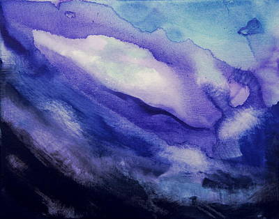 Painting - Purple Abstract  by Shiela Gosselin