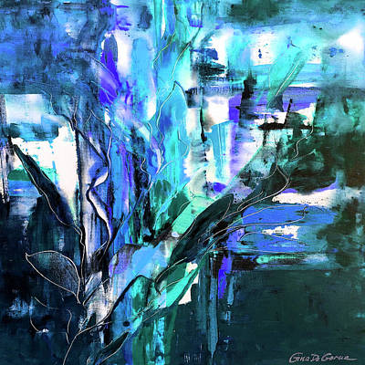 Painting - Purple And Blue Abstract by Gina De Gorna