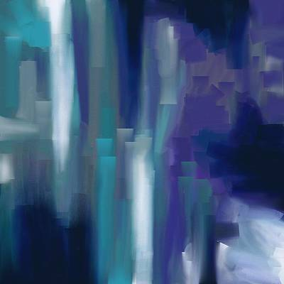 Scottsdale Gallery Painting - Purple And Blue by Chris Bradley