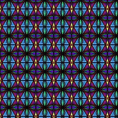 Digital Art - Purple And Blue Diamonds by Becky Herrera