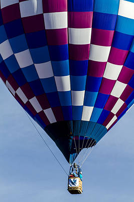 Photograph - Purple And Blue Hot Air Balloon by Teri Virbickis