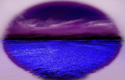 Photograph - Purple And Blue Landscape by Miroslava Jurcik