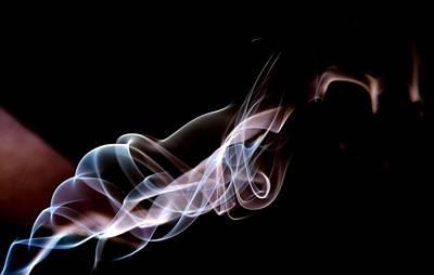 Photograph - Purple And Blue Smoke by Karen Silvestri