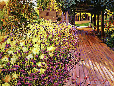 Purple And Gold Print by David Lloyd Glover