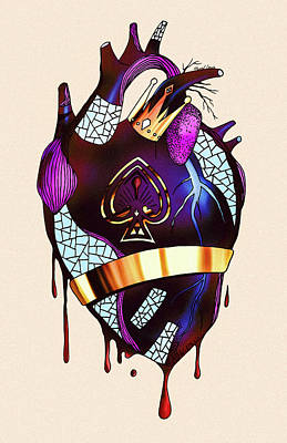Drawing - Royal Heart  by Kenal Louis