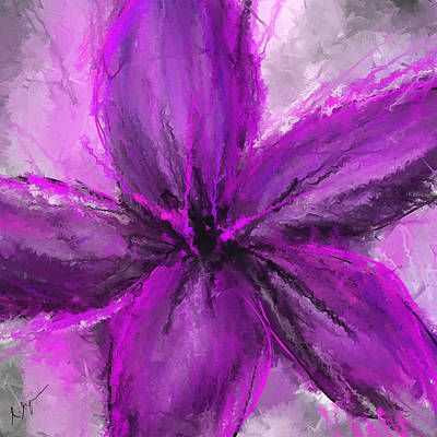 Purple And Gray Art Art Print by Lourry Legarde