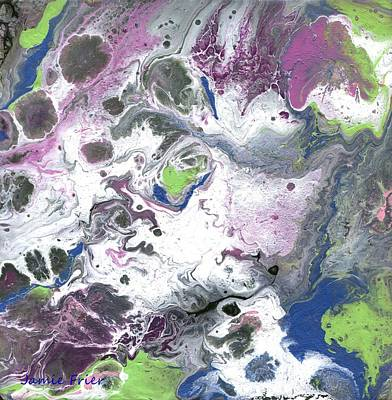 Painting - Purple And Green Abstract by Jamie Frier