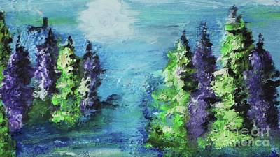 Painting - Purple And Green by Kim Nelson