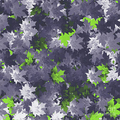 Digital Art - Purple And Green Leaves by Methune Hively