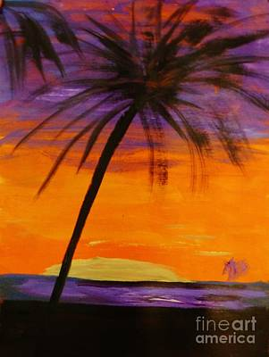 Painting - Purple And Orange Sky by Marie Bulger