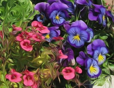 Digital Art - Purple And Pink Beauties by Kathie Chicoine