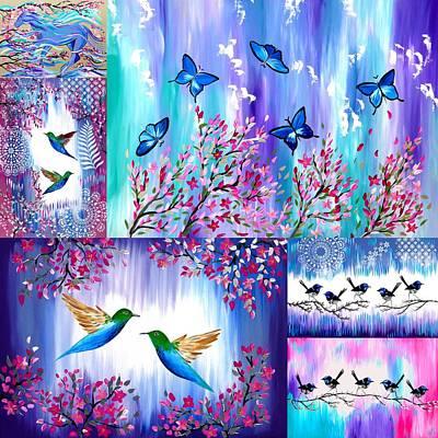 Purple And Pink Designs Art Print