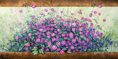 Purple And Pink Flowers Art Print