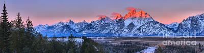 Photograph - Purple And Pink Over The Snake River Panorama by Adam Jewell