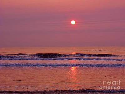Photograph - Purple And Pink Sunrise At The Beach by D Hackett