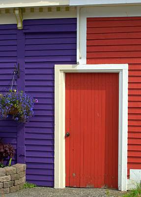 Photograph - Purple And Red Door by Douglas Pike