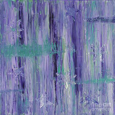 Purple And Teal  Art Print by Patty Vicknair