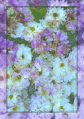 Photograph - Purple And White Fantasy - Flowers Of Spring - Variation by Miriam Danar