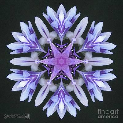 Digital Art - Purple And White Frosted Queen Mandala by J McCombie