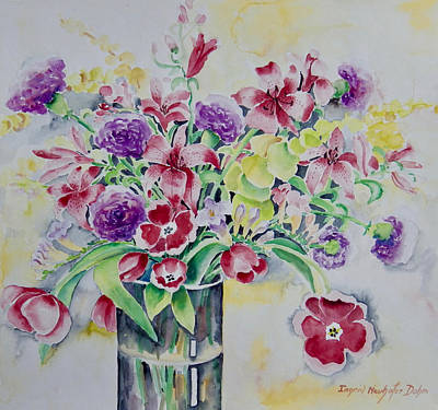 Painting - Purple And Yellow Delight by Ingrid Dohm