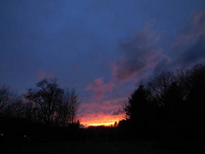 Photograph - Purple And Yellow Sunset View A by Jacqueline Madden