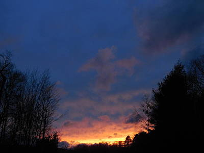 Photograph - Purple And Yellow Sunset View B by Jacqueline Madden