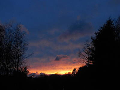 Photograph - Purple And Yellow Sunset View C by Jacqueline Madden