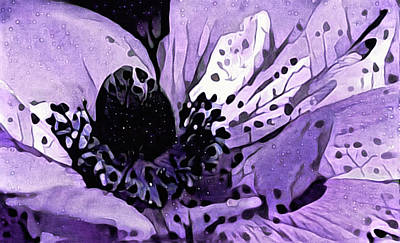 Mixed Media - Purple Anemone by Susan Maxwell Schmidt