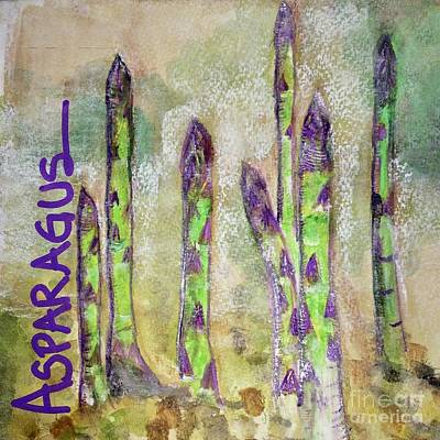 Art Print featuring the painting Purple Asparagus by Kim Nelson