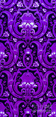 Digital Art - Purple Baroque Extravagance  by Peter Gumaer Ogden