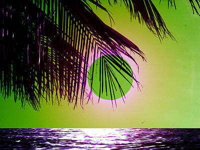 Purple Beach Art Print by Juana Maria Garcia-Domenech
