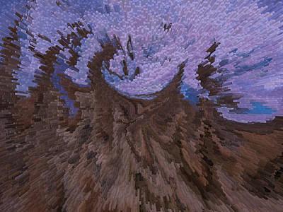 Purple Blast Art Print by Michele James