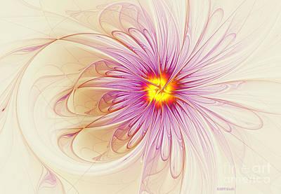 Purple Flowers Digital Art - Purple Blossom by Deborah Benoit