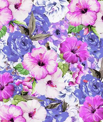 Digital Art - Purple Blossom by Uma Gokhale