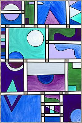 Purple-blue-green Abstract 1 Art Print by Patty Vicknair