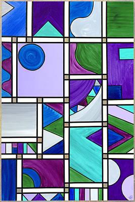 Purple-blue-green Abstract 3 Art Print by Patty Vicknair