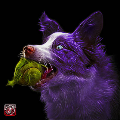 Painting - Purple Border Collie -  Elska - 9847 - Bb by James Ahn