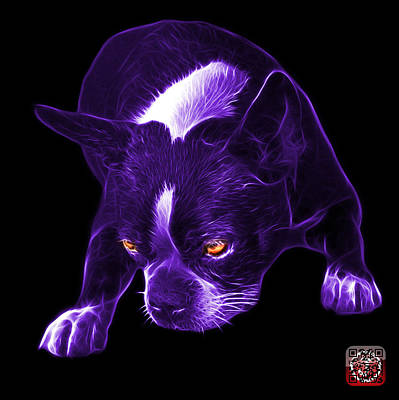 Mixed Media - Purple Boston Terrier Art - 8384 - Bb by James Ahn