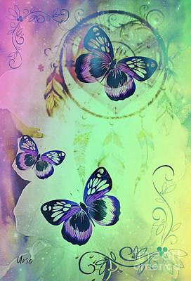 Digital Art - Purple Butterflies by Maria Urso
