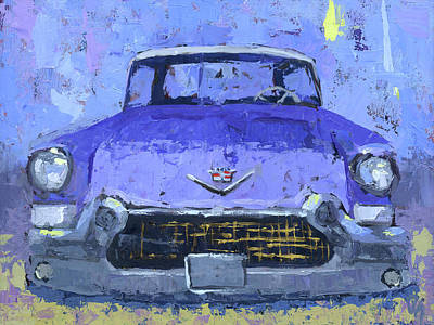 Painting - Purple Cadillac by David King