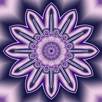 Digital Art - Purple Candle Flower Fractal by Ruth Moratz