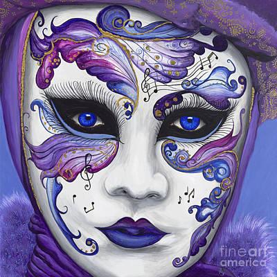 Purple Carnival Mask  Art Print by Patty Vicknair